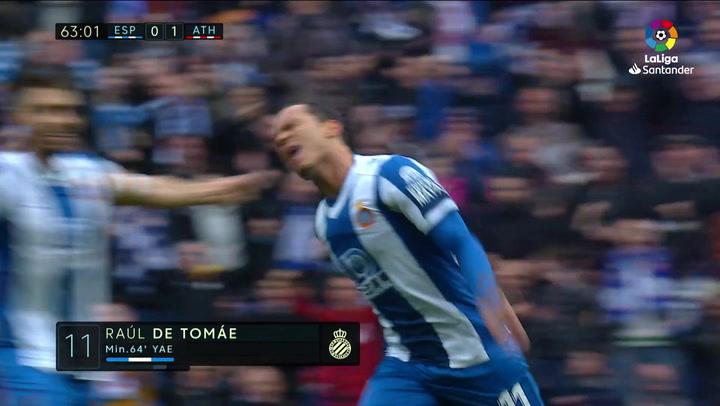 Gol de Raúl de Tomás (1-1) en el Espanyol 1-1 Athletic