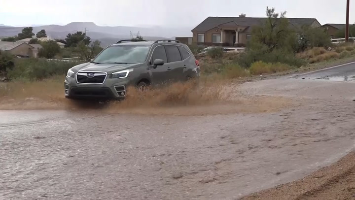 Rain slowing traffic in Arizona