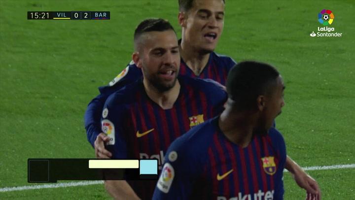 LaLiga. Villarreal-Barça. Gol de Malcom (0-2)