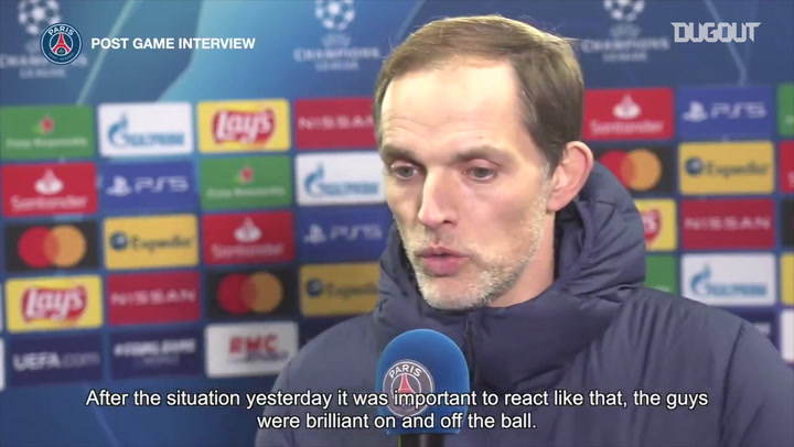 Thomas Tuchel' s post-match reaction after the win against Istanbul BB