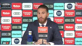 Sergio Ramos en su despedida:
