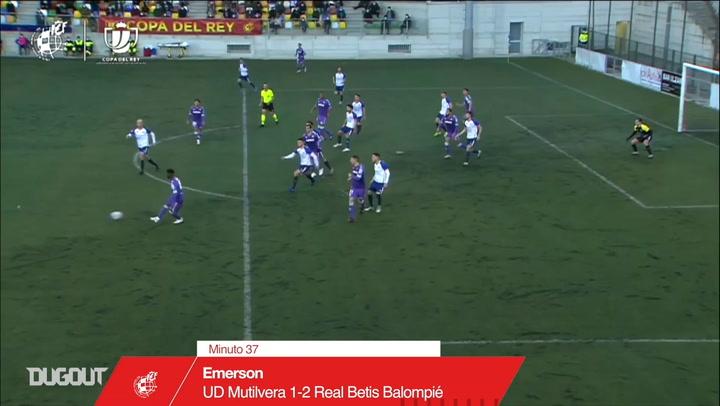 Golaço de Emerson pelo Betis na Copa do Rei de 2020/21