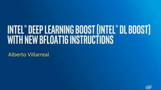 Chapter 1: Intel® Deep Learning Boost (Intel® DL Boost) With New BFLOAT16 Instructions
