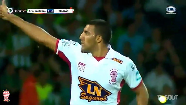 El golazo de chilena de Wanchope Ábila ante Atlético Nacional