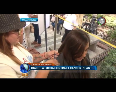 Donaron pelo para apoyar la lucha contra el cáncer infantil
