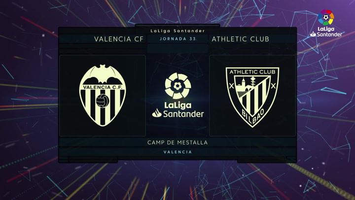 Resumen 90' Valencia CF - Athletic Club J33