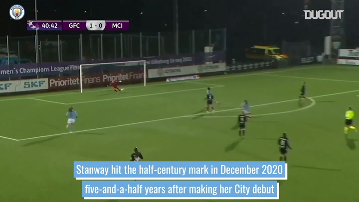 Georgia Stanway's first 50 goals for Man City Women