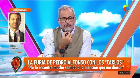 Pedro Alfonso explicó por qué devolvió su premio Carlos y se cruzó con Marina Calabró