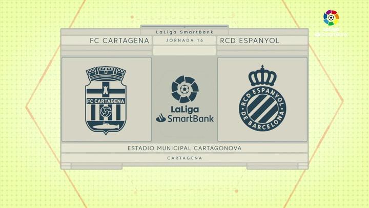 LaLiga SmartBank (J16): Resumen y goles del Cartagena 1-3 Espanyol