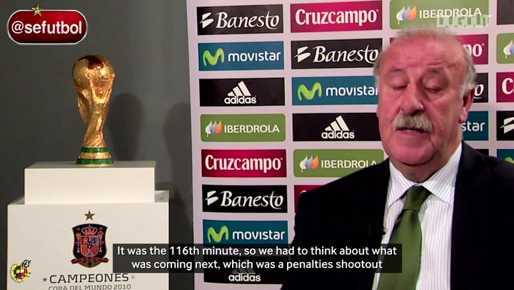 Vicente del Bosque remembers Iniesta's goal