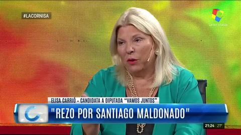 El tiempo siempre me dio la razón, dijo Carrió sobre su hipótesis que Maldonado esté en Chile