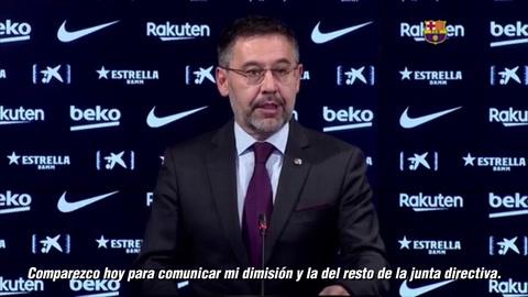 Bartomeu renuncia al Barcelona: