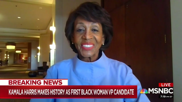 Maxine Waters: Harris Pick 'Historic Moment' I Am Overjoyed-- 'Black Woman Have Arrived'