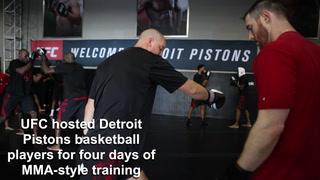 UFC trains Detroit Pistons