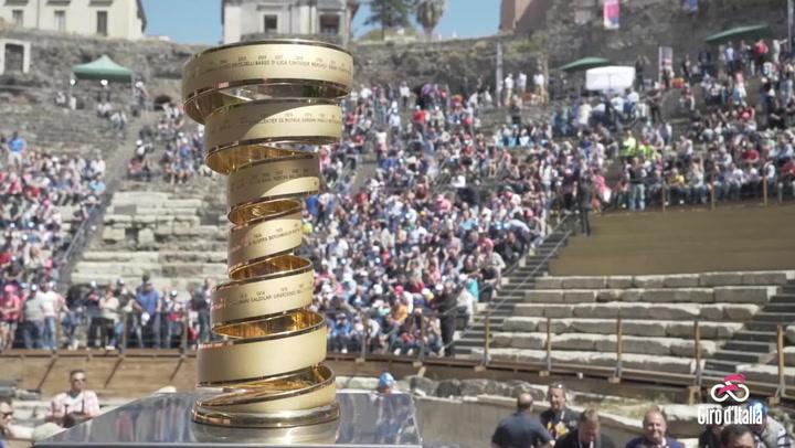 El espectacular trofeo para el ganador del Giro