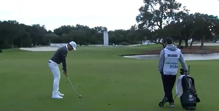 Camilo Villegas, colíder del RSM Classic de golf
