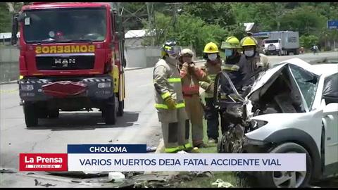 Varios muertos deja fatal accidente vial en Choloma