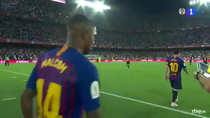 Copa del Rey: Barça-Valencia. Malcom y Vidal entran al descanso