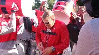 Coach Hauck takes the ALS ice bucket challenge