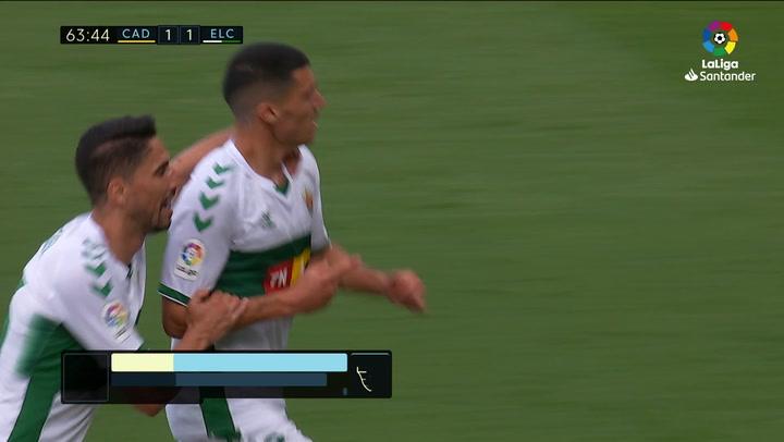 Gol de Diego González (1-2) en el Cádiz 1-3 Elche