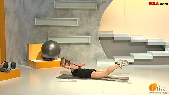 Tabla de fitness para abdominales y lumbares