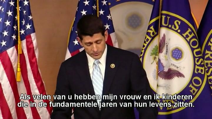 Paul Ryan mogelijk alsnog voorzitter Huis van Afgevaardigden VS