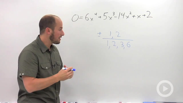 Rational Roots Theorem - Problem 1