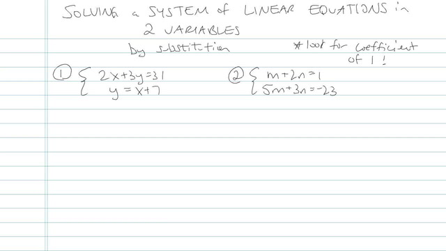 Solving a System of Linear Equations in Two Variables - Problem 4