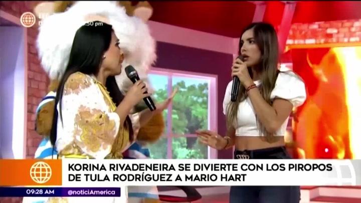 Korina Rivadeneira reaccionó de esta forma tras los piropos de Tula a Mario Hart
