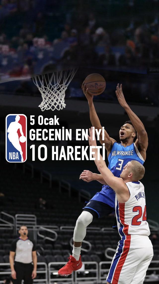 NBA'de gecenin en iyi 10 hareketi / 5 Ocak