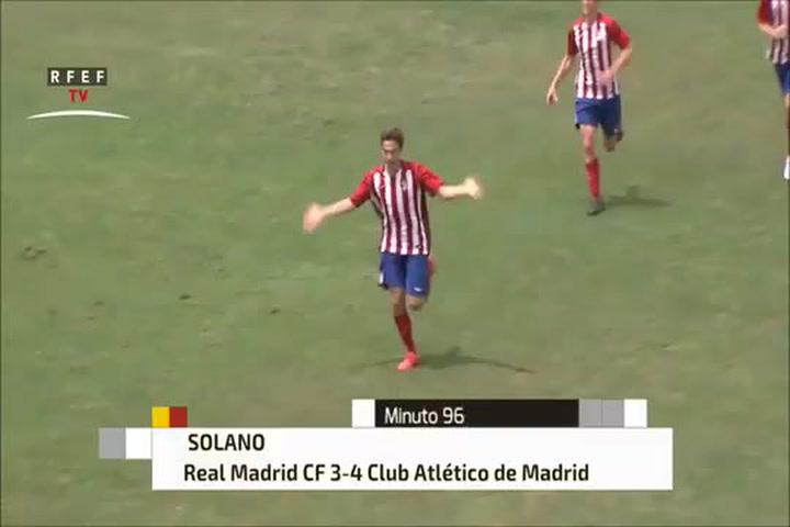 El tremendo golazo que marcó Andrés Solano en la Copa juvenil ante el Real Madrid