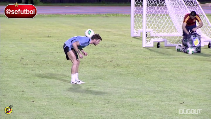Sergio Ramos shows off his skills in training