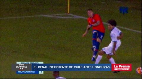 El penal inexistente de Chile ante Honduras