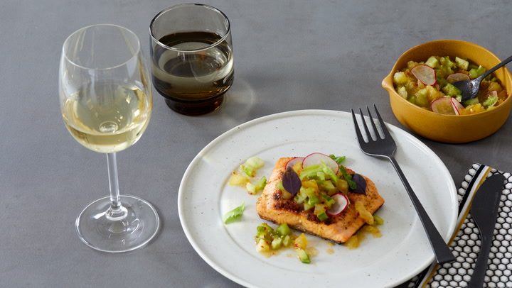 A Perfect Match: Grilled Sea Trout with Godello
