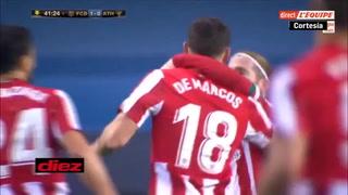 Barcelona y Athletic están empatando en la Supercopa, Griezmann y De marcos hicieron los goles