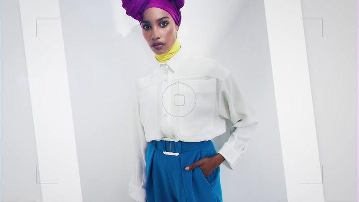 Watch Ikram Abdi Omar on her HELLO! Fashion cover shoot