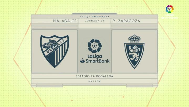 LaLiga SmartBank (J31): Resumen y gol del Málaga 0-1 Zaragoza
