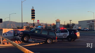 Pedestrian dies after crash at Decatur and Alta