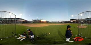 Las Vegas Aviators pitching practice