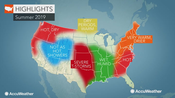 AccuWeather 2019 US summer forecast