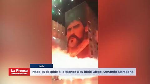 Nápoles despide a lo grande a su ídolo Diego Armando Maradona