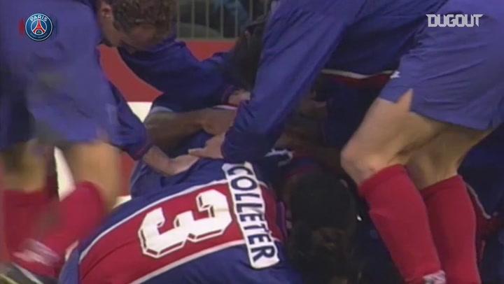 In 1996 PSG won the UEFA Cup Winners against Rapid de Vienne