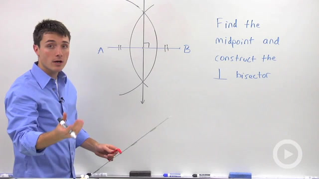Constructing the Perpendicular Bisector - Problem 1