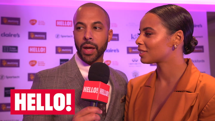 Rochelle and Marvin Humes talk about taking tea with the royals.