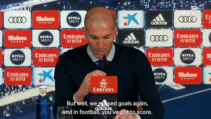 Zidane: 'We gave more than 100 per cent but the goal wouldn't come'