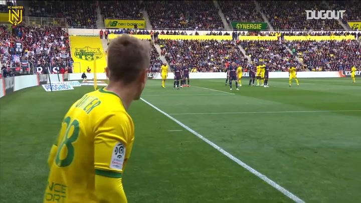 FC Nantes' goals vs PSG in 2019