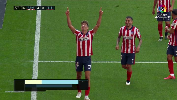 Gol de Marcos Llorente (4-0) en el Atlético 5-0 Eibar