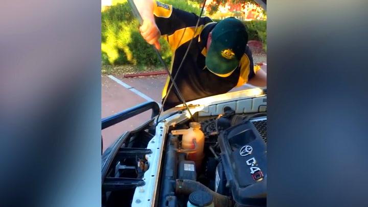 Kjørte 50 mil med rare lyder fra motoren – så løftet han panseret