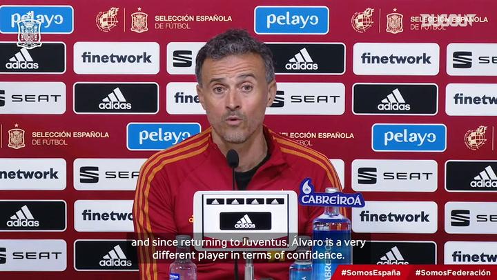 Luis Enrique on Morata's progress since returning to Juventus
