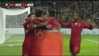 Cristiano Ronaldo provoca la paliza de Portugal ante Lituania